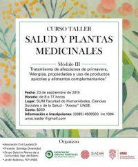 Invitación al Curso-taller Salud y Plantas Medicinales