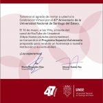 Invitación: 47° Aniversario de la UNSE