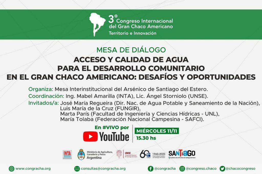 CONGRACHA, 2do día: Mesa de diálogo del agua