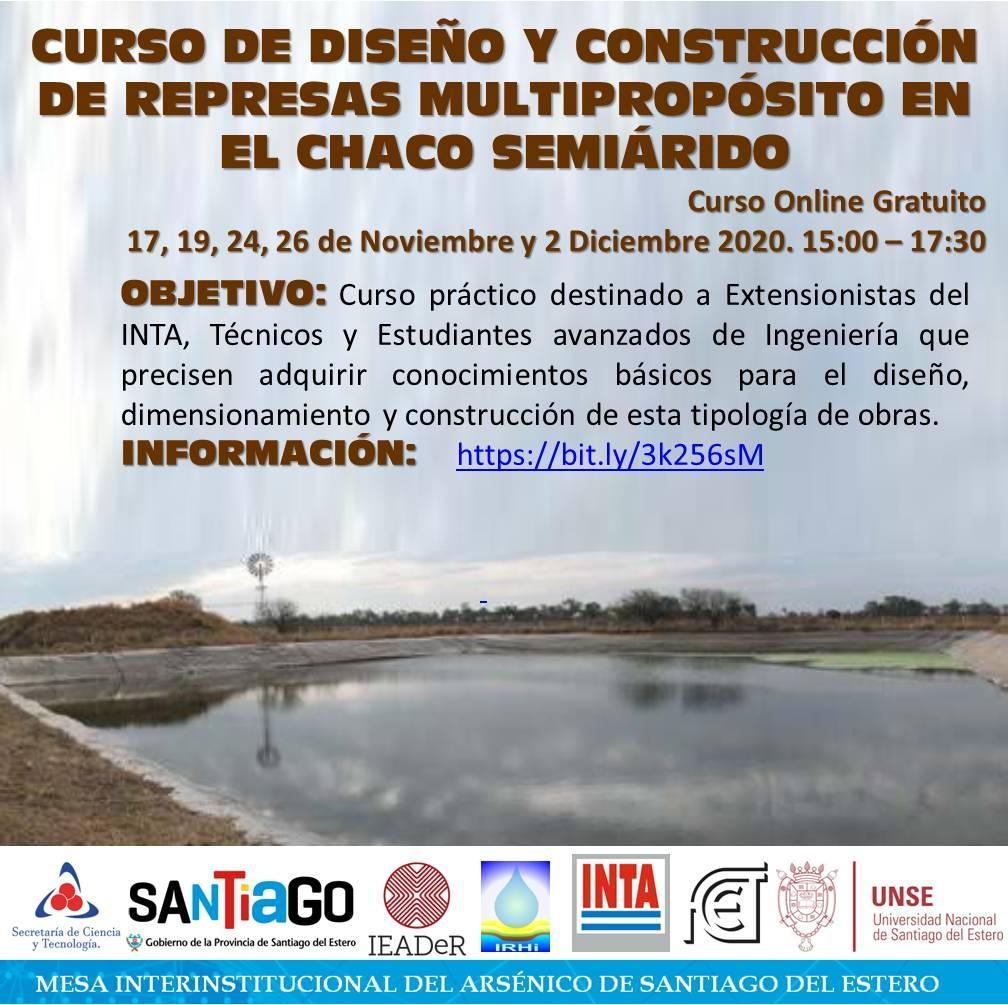 Curso de diseño y construcción de represas multipropósito en el Chaco semiárido