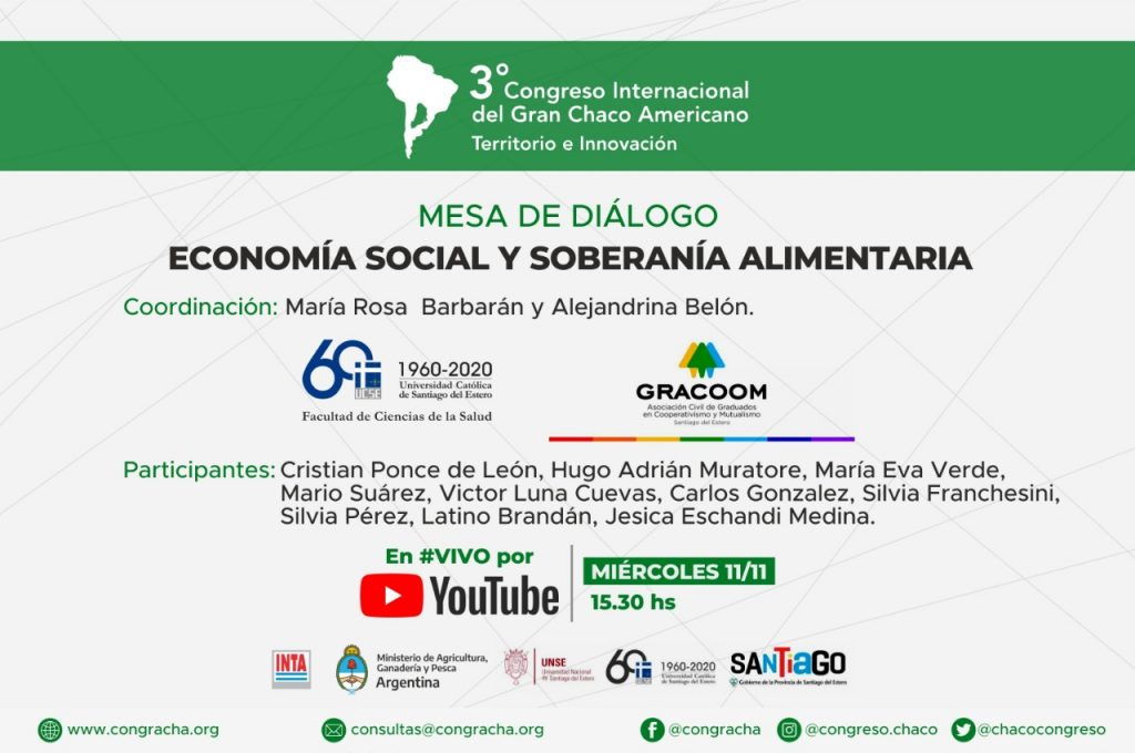 CONGRACHA: Mesa de diálogo de Economía social y soberanía alimentaria.