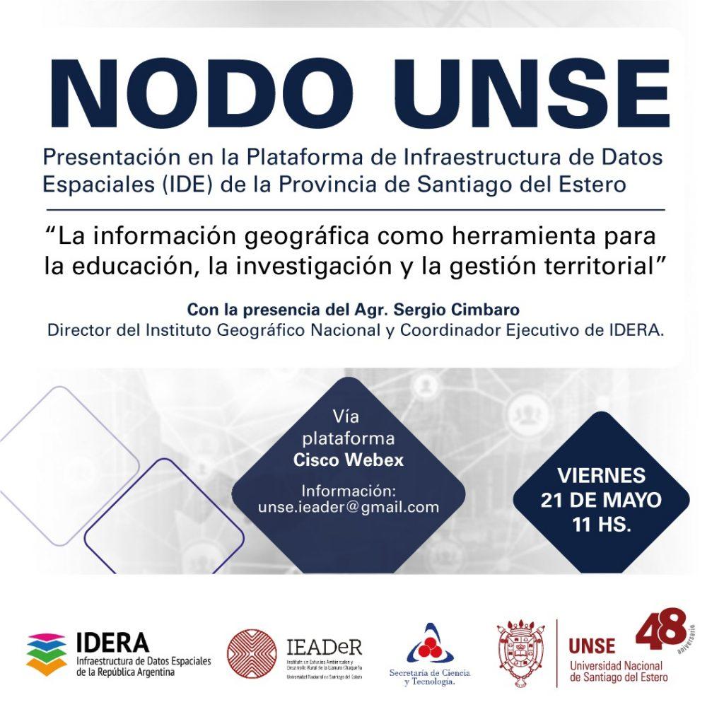 Presentación virtual del NODO UNSE