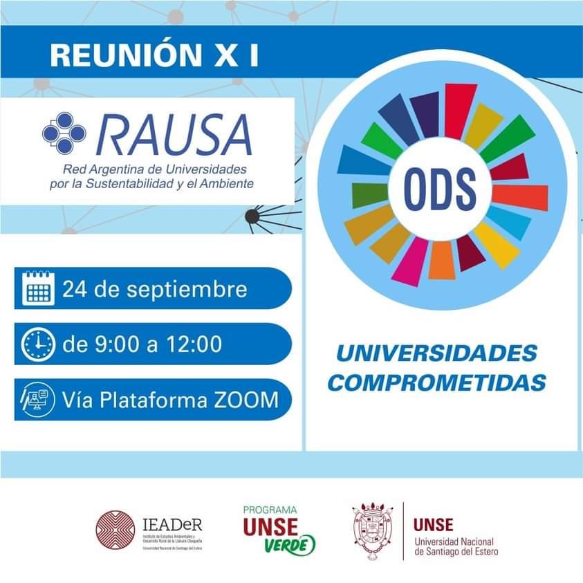 """XI Reunión RAUSA """"UNIVERSIDADES COMPROMETIDAS CON LOS OBJETIVOS DE DESARROLLO SOSTENIBLE 2030: La década de la Acción"""""""
